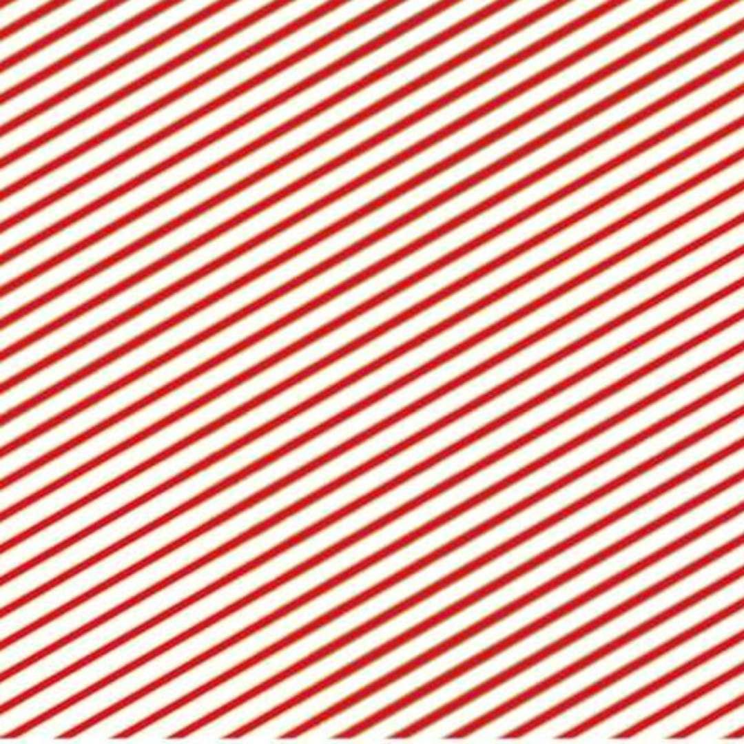 Papier do pakowania Paski biało-czerwony PartyDeco 70x200cm