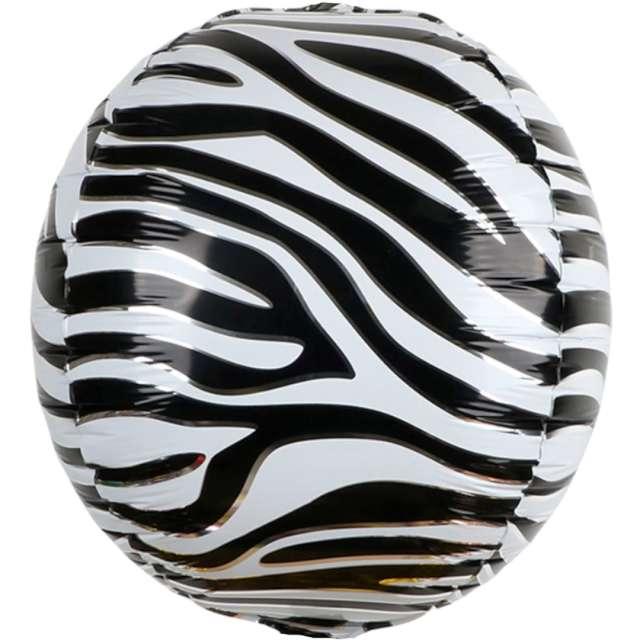 Balon foliowy Animal: skóra Zebry PartyPal 22 RND