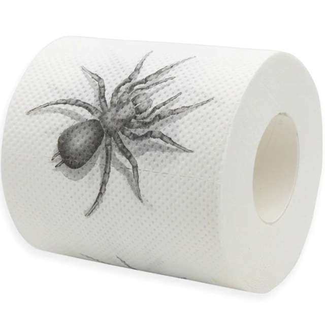 """Papier toaletowy """"Pająk"""", biało-czarny, PartyPal"""
