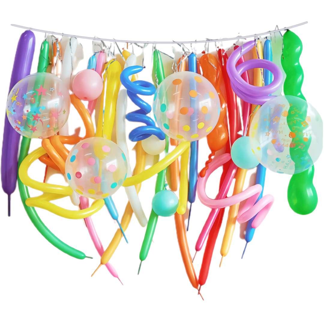 """Balony """"Zestaw Imprezowy i makarony"""", mix, Partypal zestaw 32 szt"""
