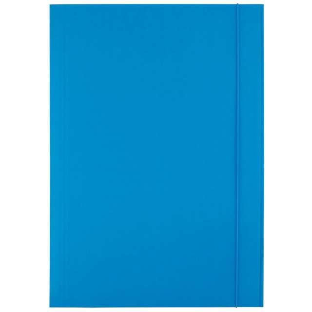 """Teczka """"A4 kartonowa z gumką"""", niebieska, D.RECT"""