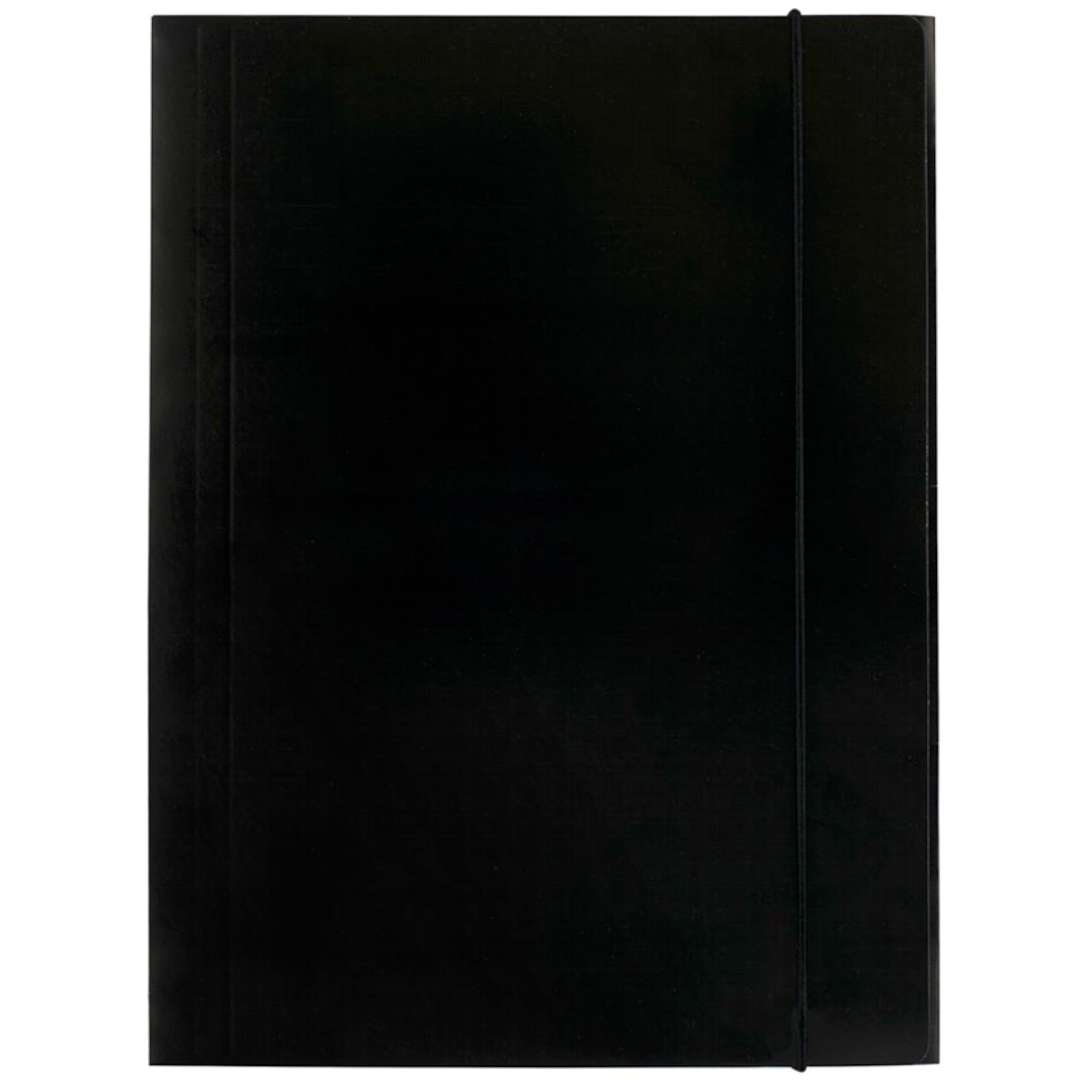 """Teczka """"A4 kartonowa z gumką"""", czarna, D.RECT"""