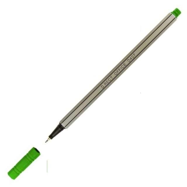 Cienkopis Office D407 zielony gr. 048mm D.Rect
