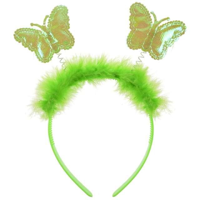 """Opaska party """"Motylek z puszkiem"""", zielona, PartyPal"""