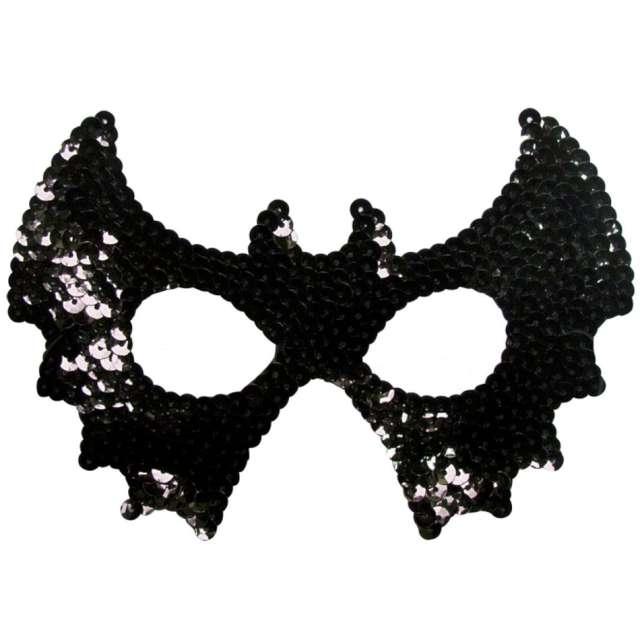 """Maska """"Czarny Nietoperz"""",cekinowa, Arpex"""