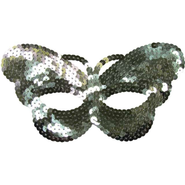 "Maska ""Srebrny Motyl"",cekinowa, Arpex"