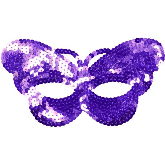 "Maska ""Fioletowy Motyl"",cekinowa, Arpex"