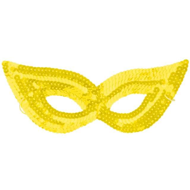 "Maska ""Kocica złota"",cekinowa, Arpex"