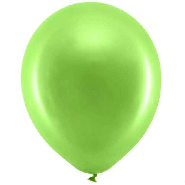 """Balony """"Rainbow - Metalizowane"""", zielone jasne, PartyDeco, 11"""", 100 szt"""