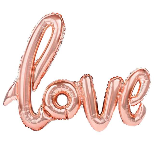 """Balon foliowy """"Love"""", szampański, PatyPal, 38"""" SHP"""