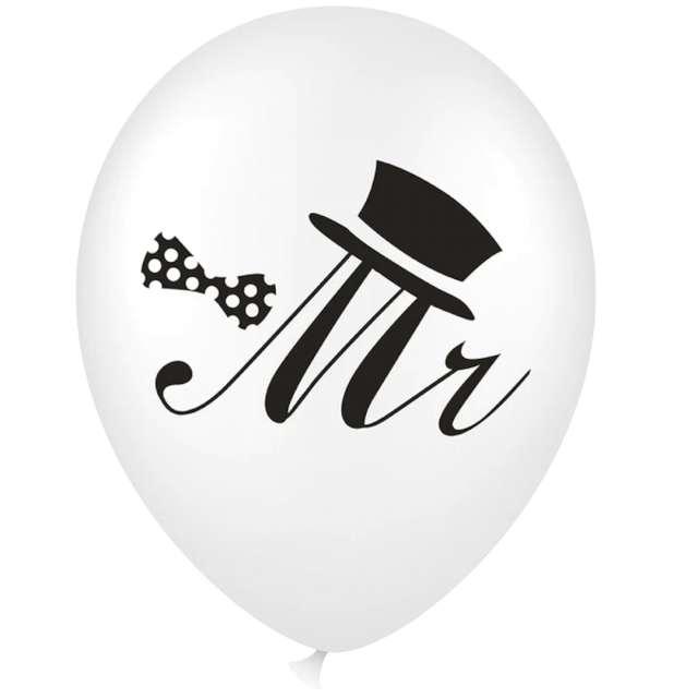 """Balon z napisem """"Mr"""", biały, PartyPal, 18"""""""