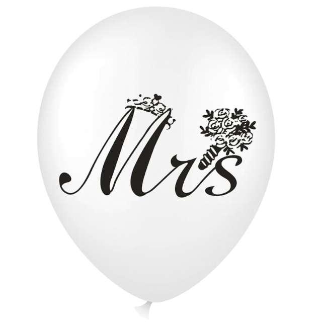 """Balon z napisem """"Mrs"""", biały, PartyPal, 18"""""""