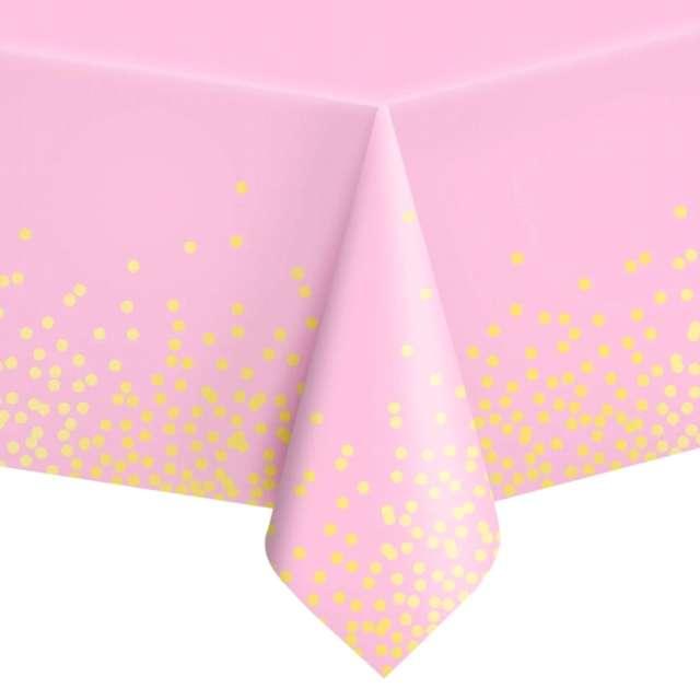 """Obrus foliowy """"Konfetti"""", różowy, PartyPal, 137 x 274 cm"""