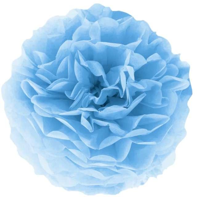 """Pompon bibułowy """"Classic"""", jasny niebieski, PartyPal, 15 cm"""
