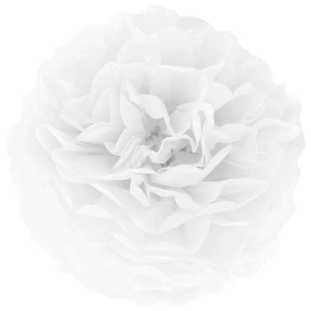"""Pompon bibułowy """"Classic"""", biały, PartyPal, 15 cm"""