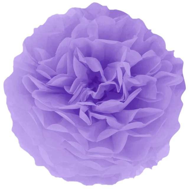 """Pompon bibułowy """"Classic"""", fioletowy, PartyPal, 15 cm"""