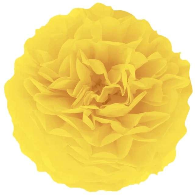 """Pompon bibułowy """"Classic"""", żółty, PartyPal, 15 cm"""