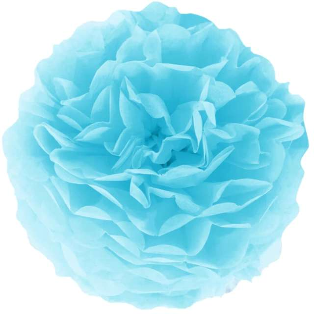 """Pompon bibułowy """"Classic"""", błękitny, PartyPal, 15 cm"""