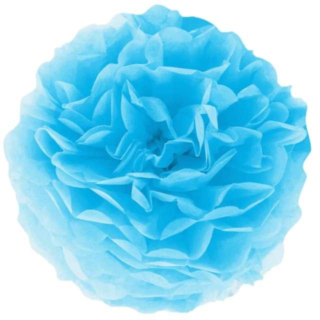 """Pompon bibułowy """"Classic"""", niebieski, PartyPal, 15 cm"""