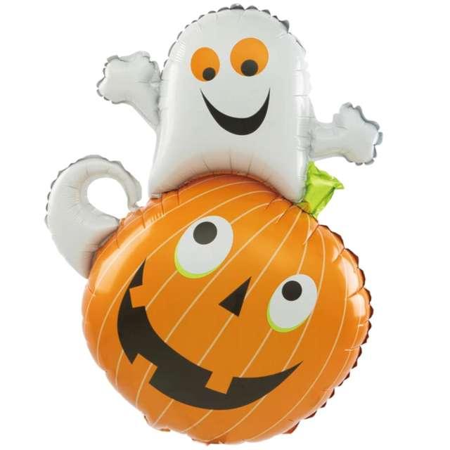 """Balon foliowy  """"Halloween - dynia i kot"""", pomarańczowy, PatyPal, 32"""" SHP"""