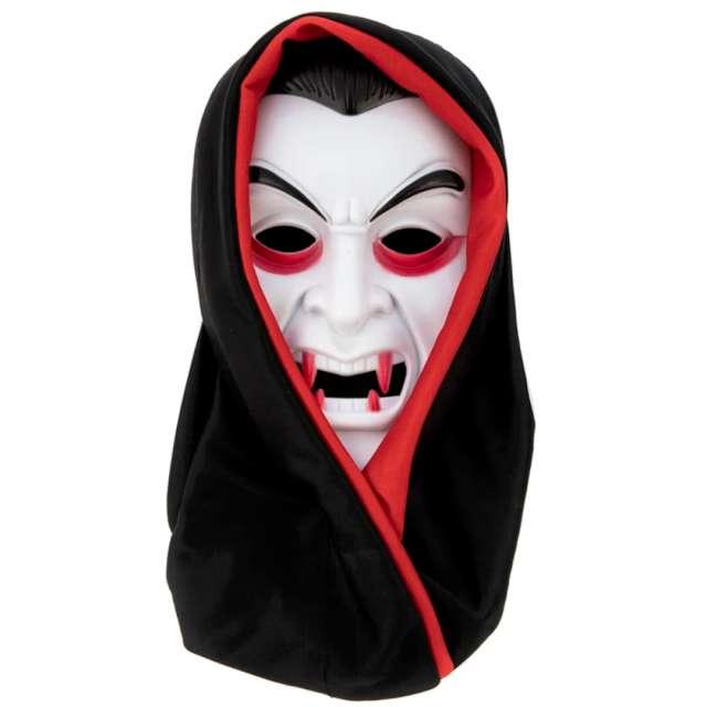 "Maska ""Wampir z kapturem"", biała, PartyPal"