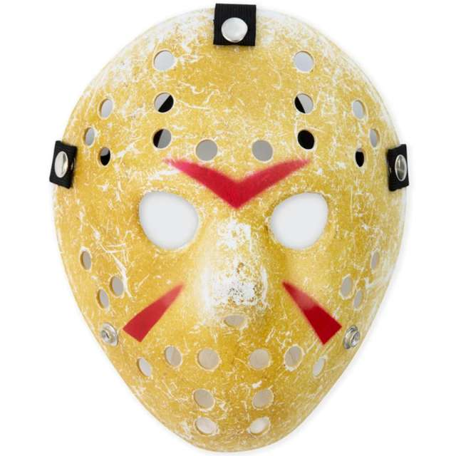 """Maska """"Jason - Piątek 13"""", żółta, PartyPal"""