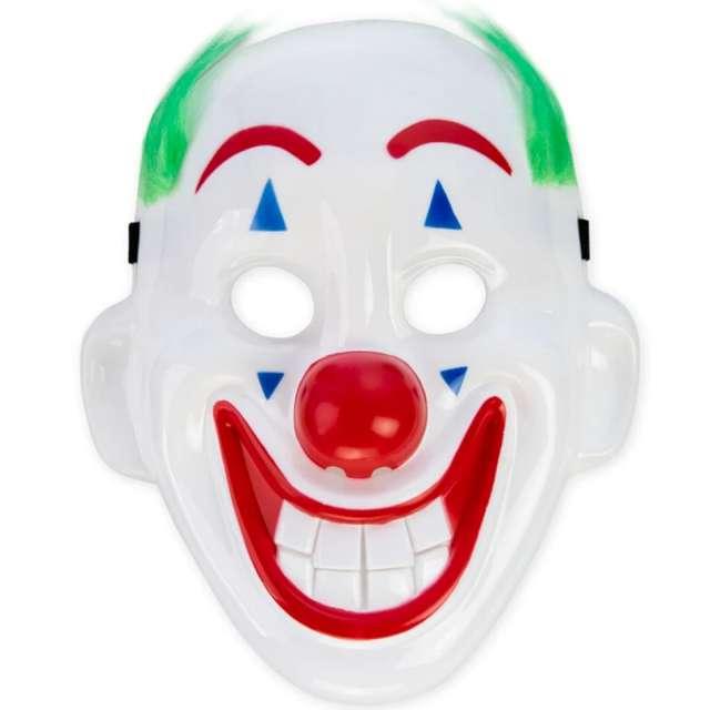 """Maska """"Wesoły Klaun"""", biała, PartyPal"""