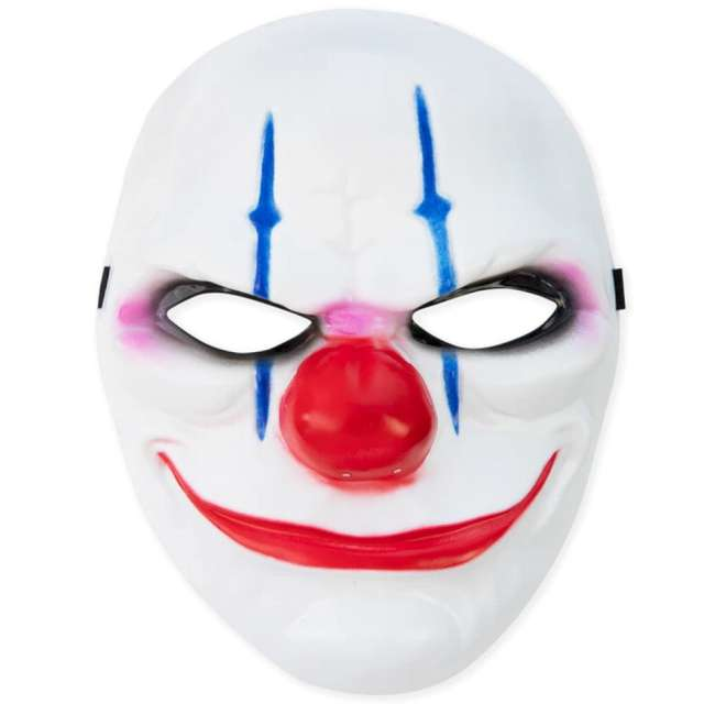 "Maska ""Joker Halloween"", biała, PartyPal"