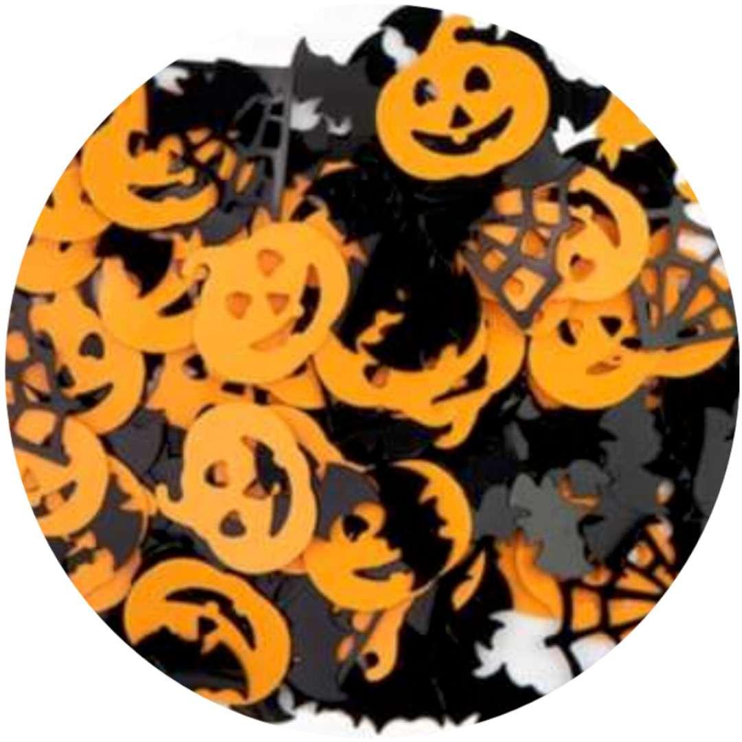 """Konfetti """"Halloween - dynie, nietoperze i pajęczyna"""", PartyPal, 15 g"""