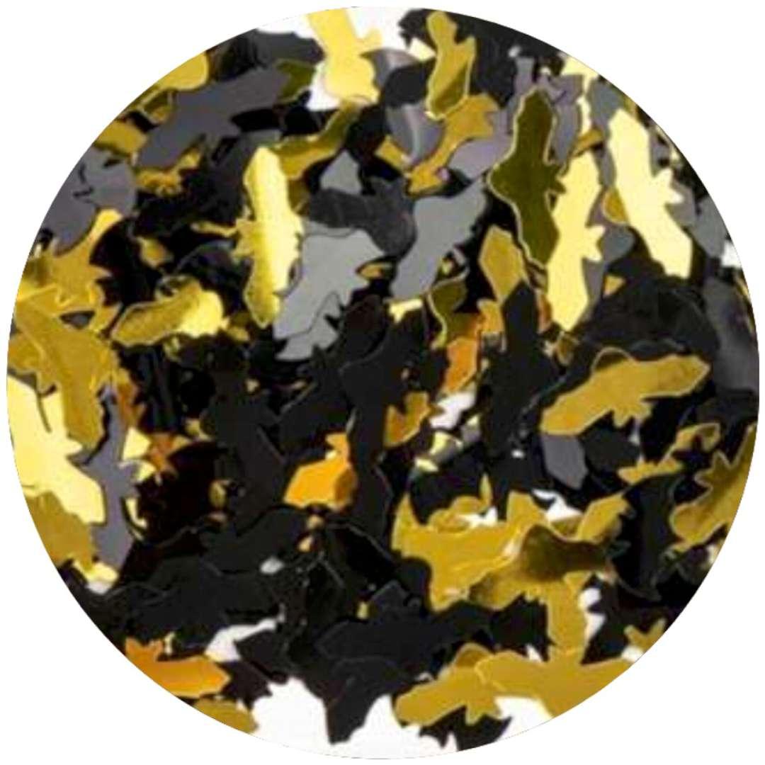 """Konfetti """"Halloween - nietoperze"""", czarno-złote, PartyPal, 15 g"""