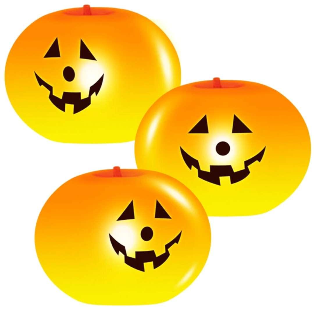 """Balony lateksowe """"Trzy dynie świecące"""", pomarańczowe, PartyPal, 6"""", SHP, 3szt"""