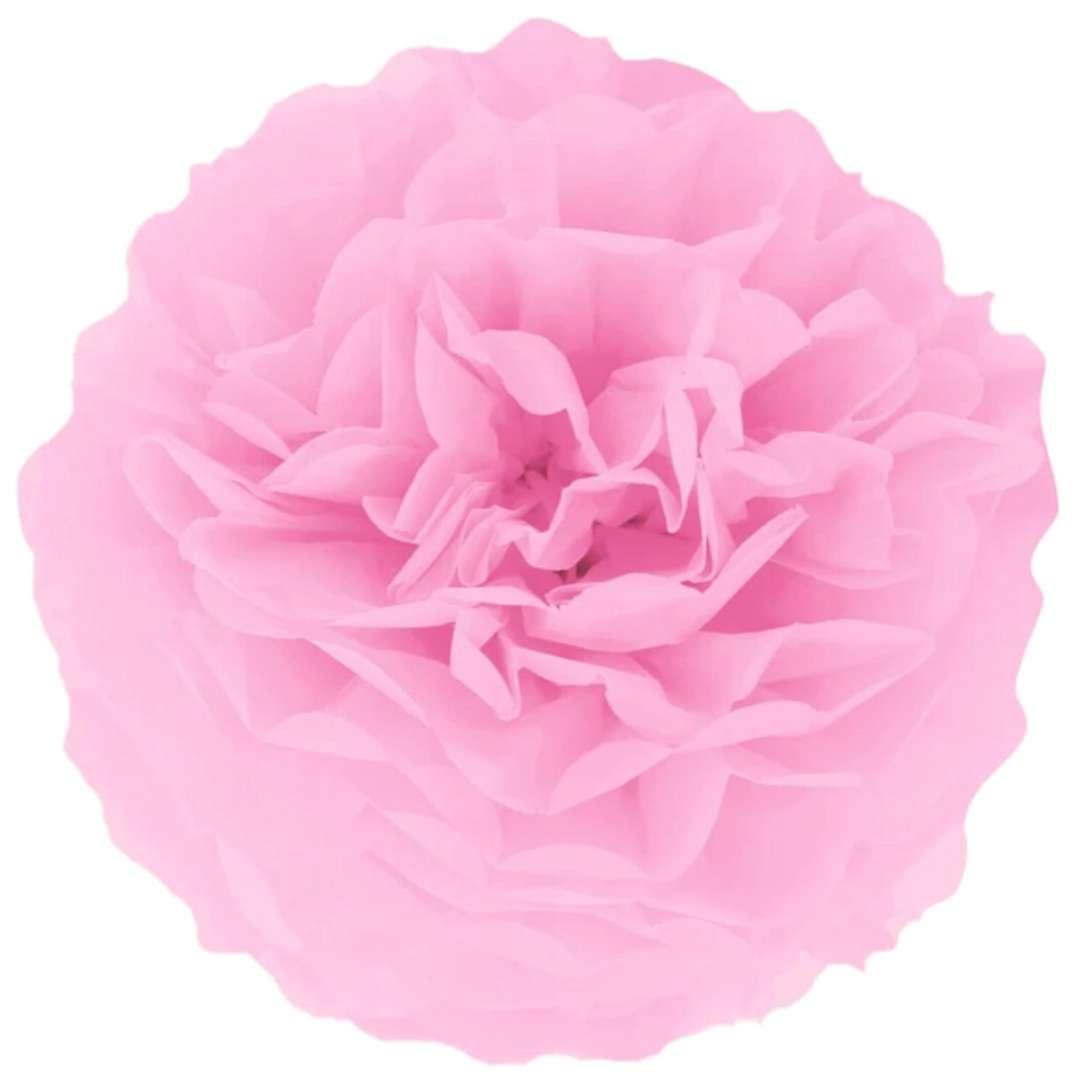 """Pompon bibułowy """"Classic"""", jasny różowy, PartyPal, 15 cm"""