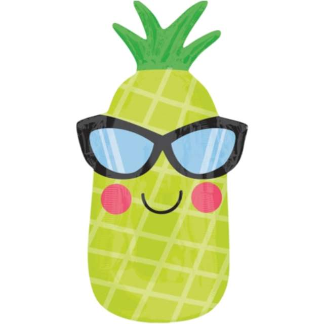 "Balon foliowy ""Ananas w okularach"", Jix, 28"" SHP"