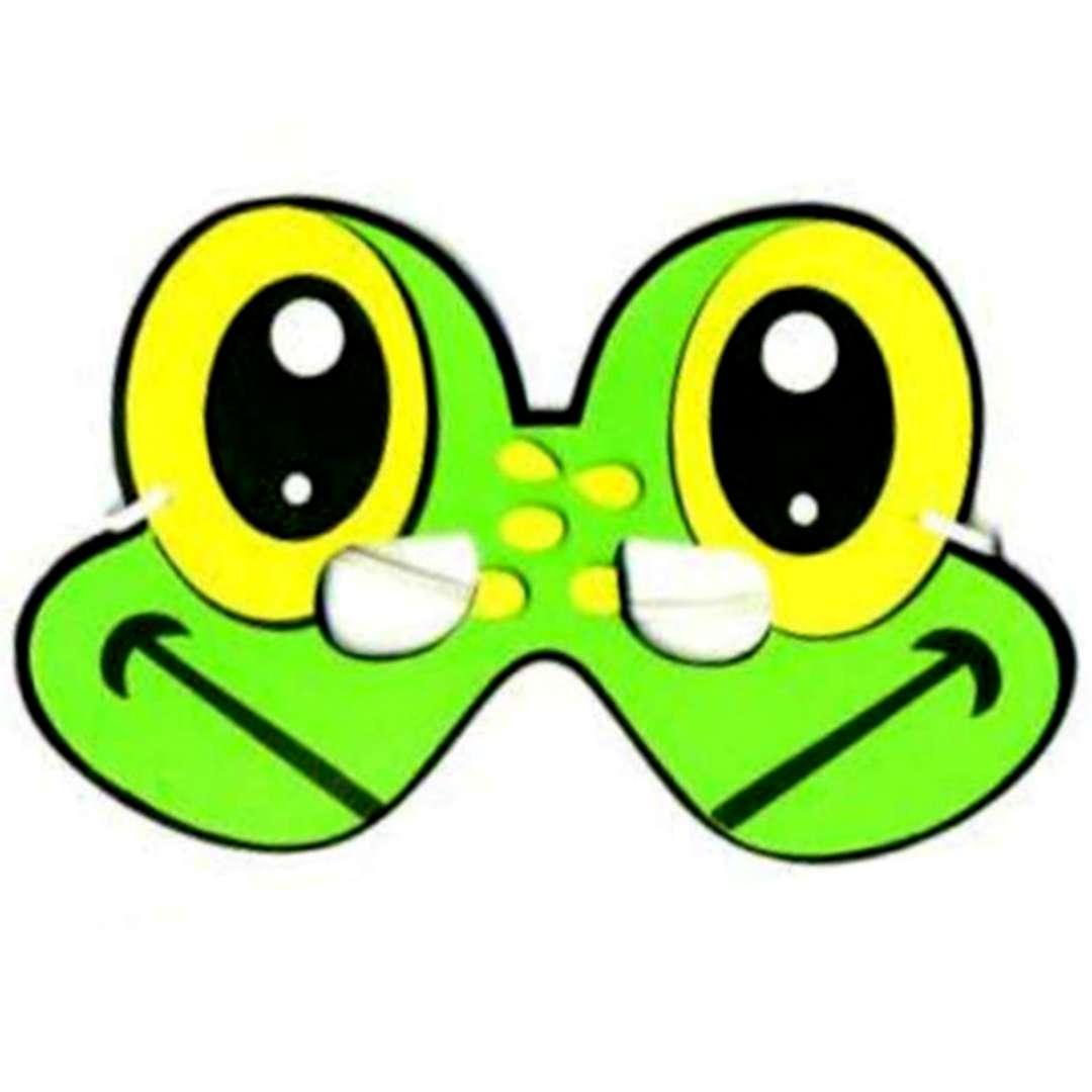 """Maska """"Zielona Żaba"""", piankowa, Arpex"""