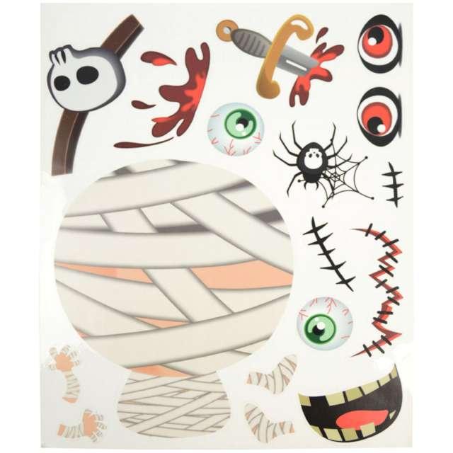 Dekoracja Halloween - jak stworzyć mumię folia elektrostatyczna Arpex