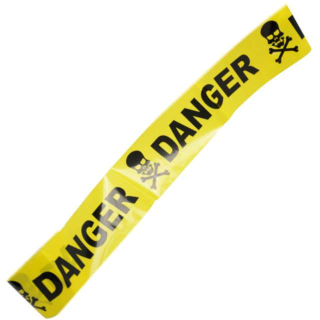 "Taśma party ""Danger"", żółta, Arpex, 240 cm"