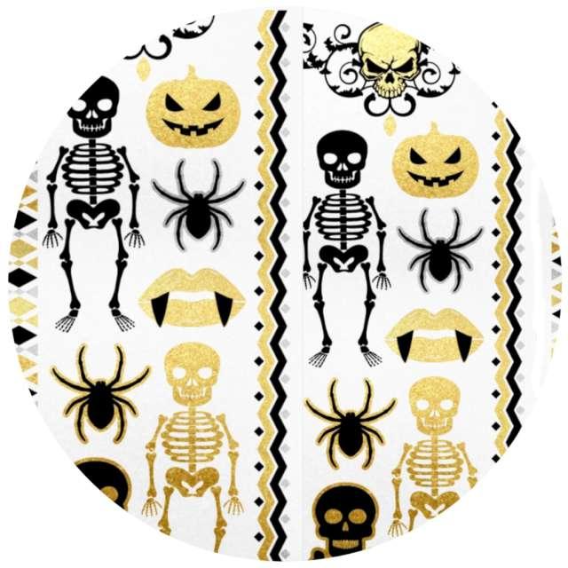 Tatuaż wodny Halloween - szkielety i czaszki metalizowany Arpex