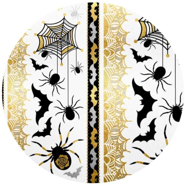 """Tatuaż wodny """"Halloween - pająki i nietoperze"""", metalizowany, Arpex"""