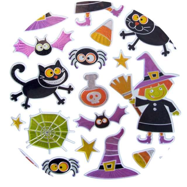 """Naklejki """"Halloween - czarownice i wiedźmy"""", metalizowane, Arpex"""