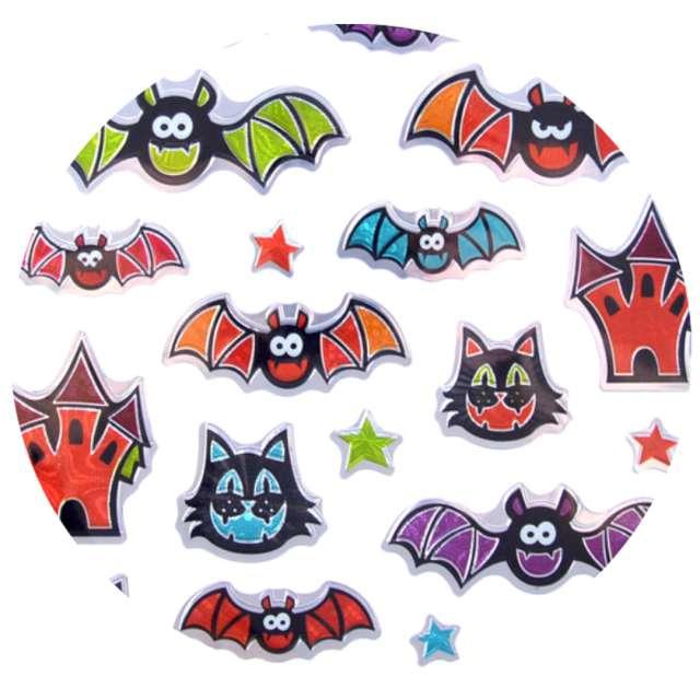 Naklejki Halloween - nietoperze i koty metalizowane Arpex