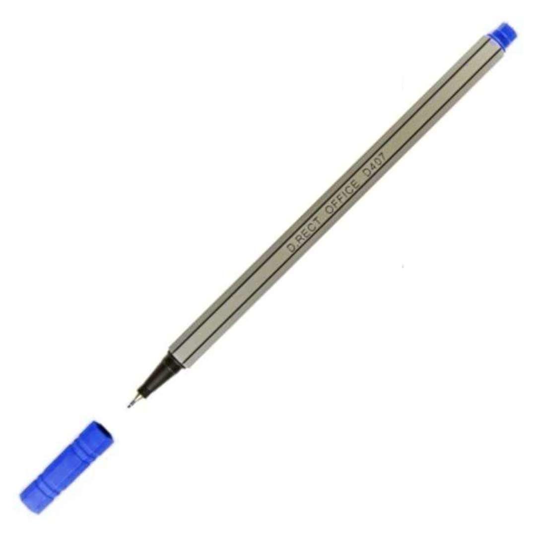 Cienkopis Office D407 niebieski gr. 048mm D.Rect