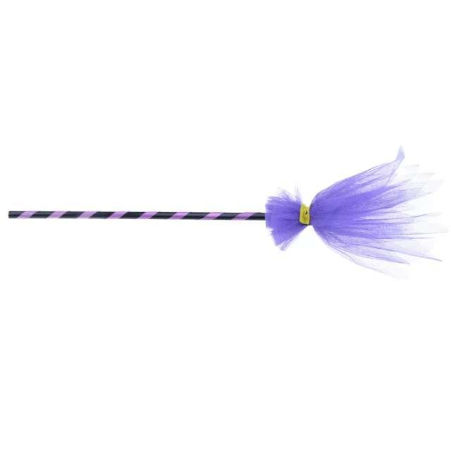 Miotła czarownicy Fioletowy tiul Arpex 90 cm