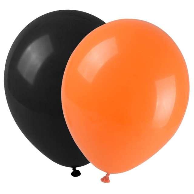 Balony Halloween mix pomarańczowo-czarne Arpex 9 12 szt