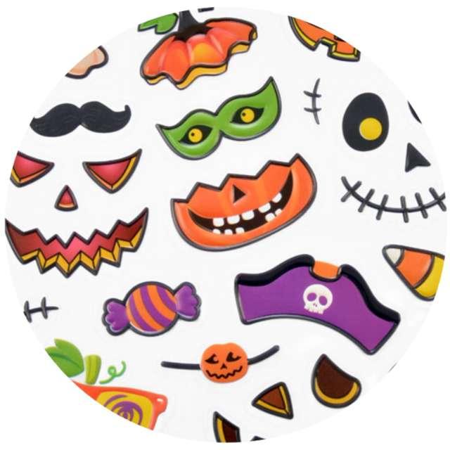 """Naklejki """"Halloween - dynie o złych minach"""", mix, Arpex"""
