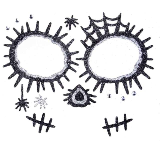 "Make-up party ""Naklejki na twarz Los Mueros"", czarno-srebrne, Arpex"