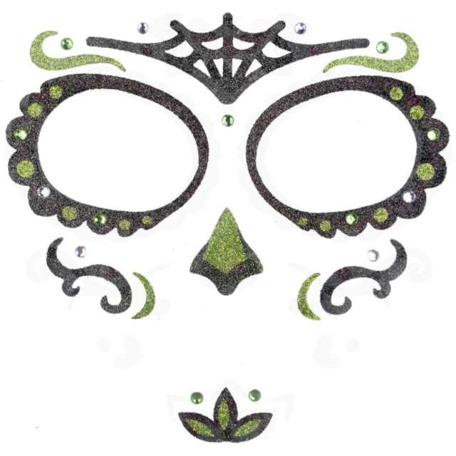 """Make-up party """"Naklejki na twarz Los Mueros"""", czarno-zielone, Arpex"""