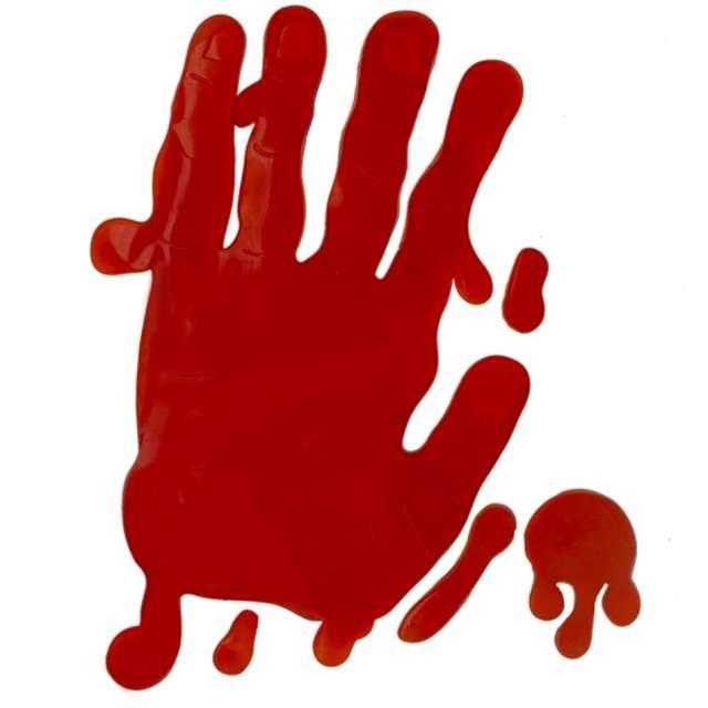 """Naklejki na szybę """"Krwawe ślady - ręka"""", PartyPal"""