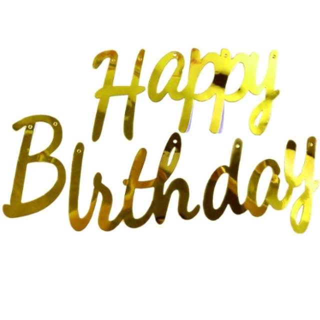 Baner Happy Birthday złoty Jix