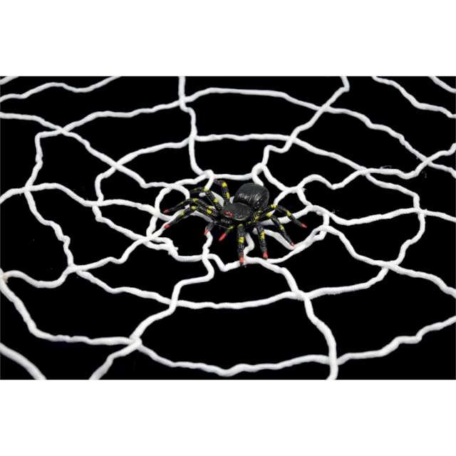 """Dekoracja """"Pajęczyna z pająkiem"""", biała, Arpex, 150cm"""