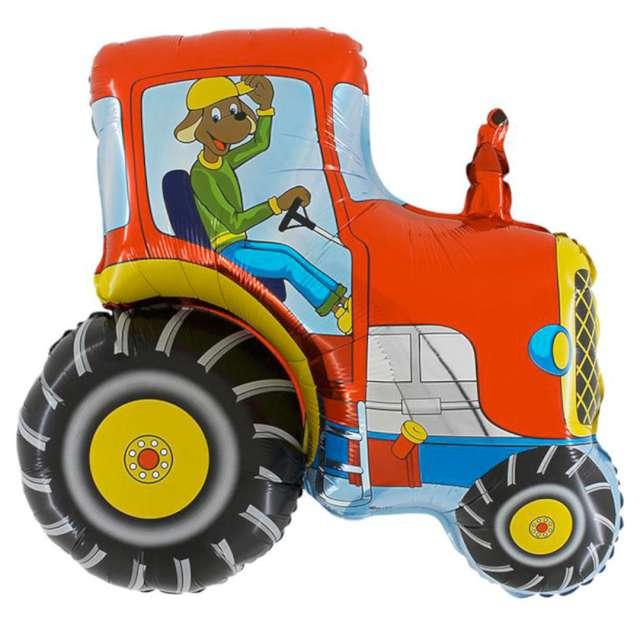 """Balon foliowy """"Traktor Czerwony"""", GRABO, 21"""" SHP"""